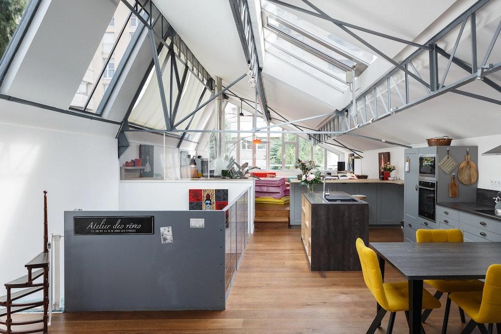 Rénovation appartement loft 135 m²