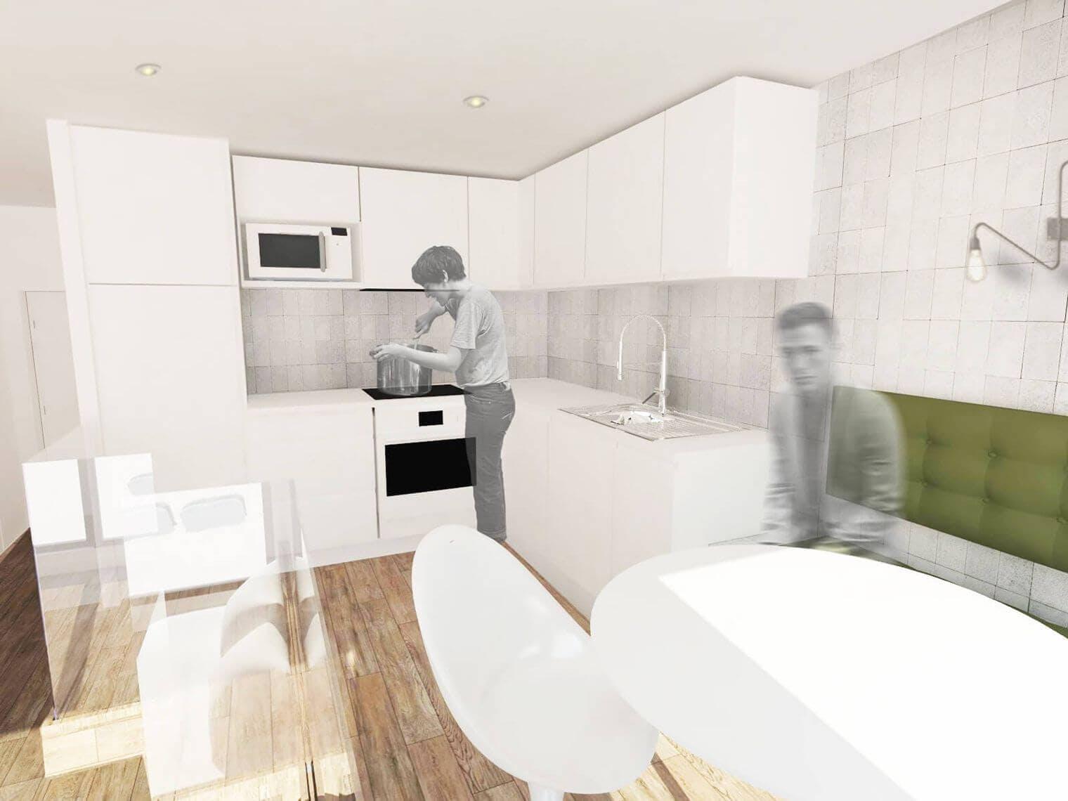 Rénovation coin cuisine - Plan 3D