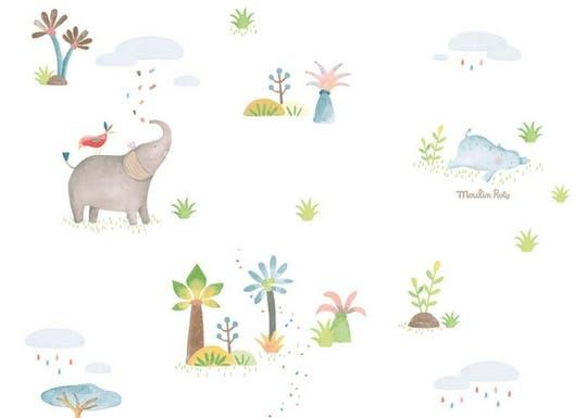 Papier peint chambre enfants animaux