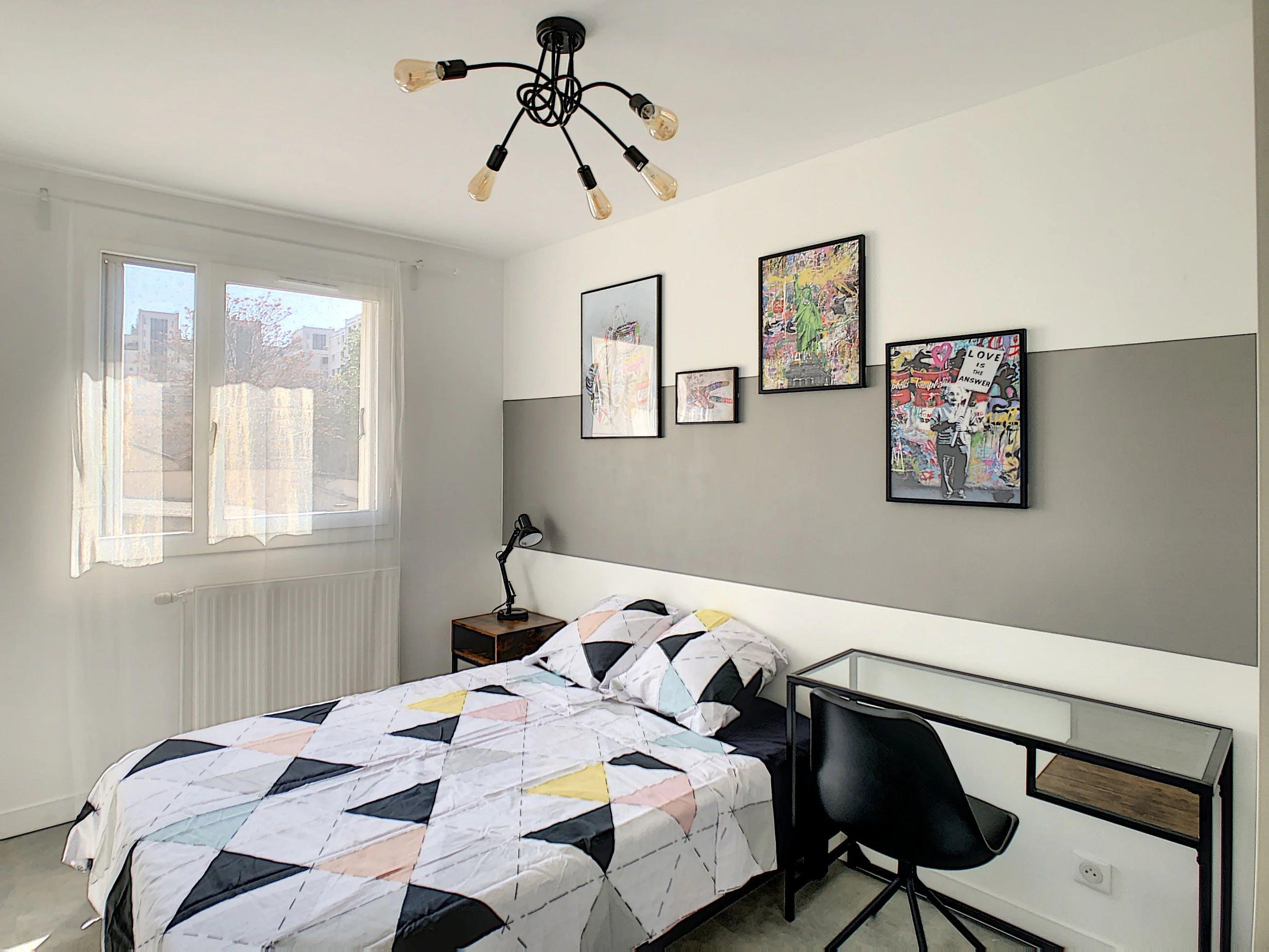 chambre à coucher décoration murale contemporaine