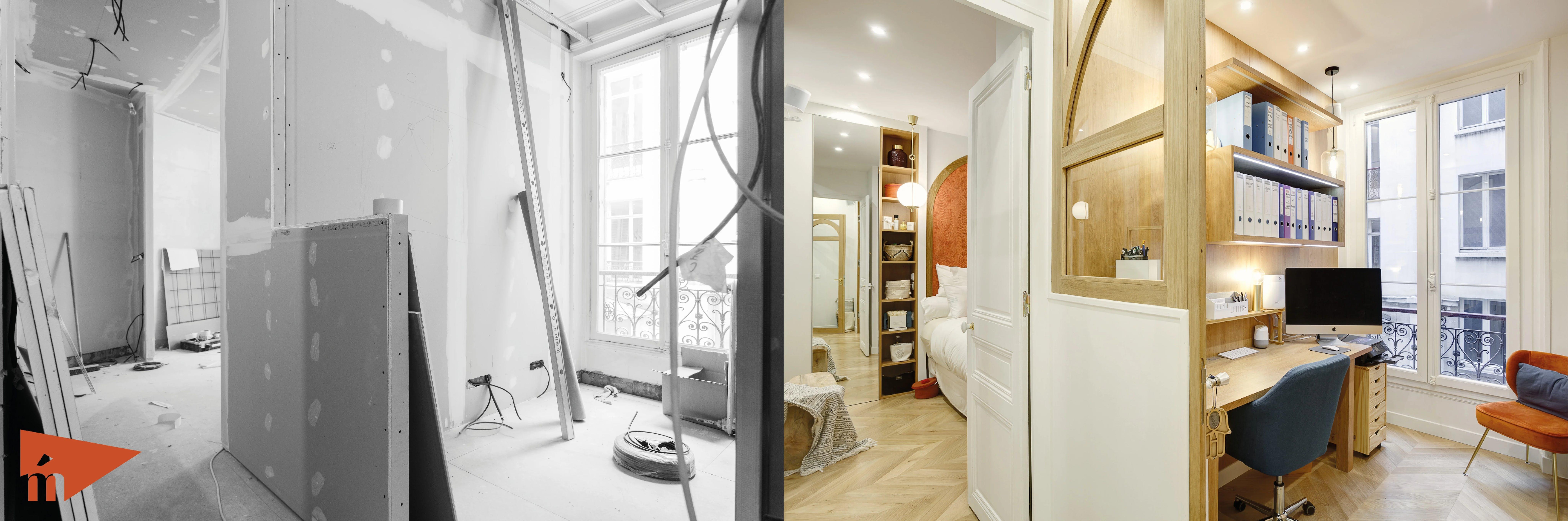 bureau avant et après