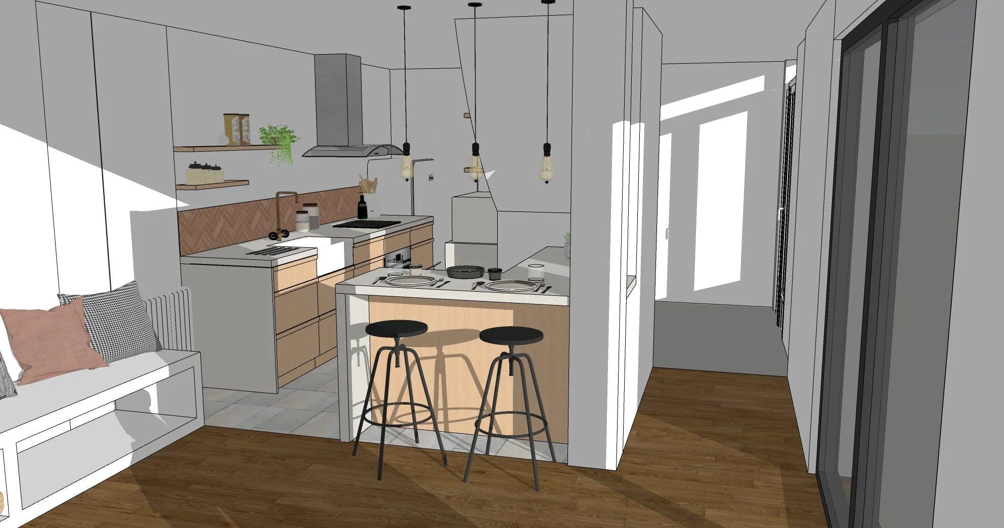 Plan 3D cuisine (face)