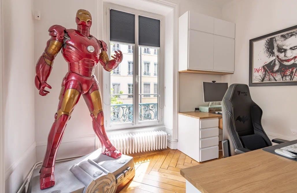 pièce coin bureau - Joker & Ironman