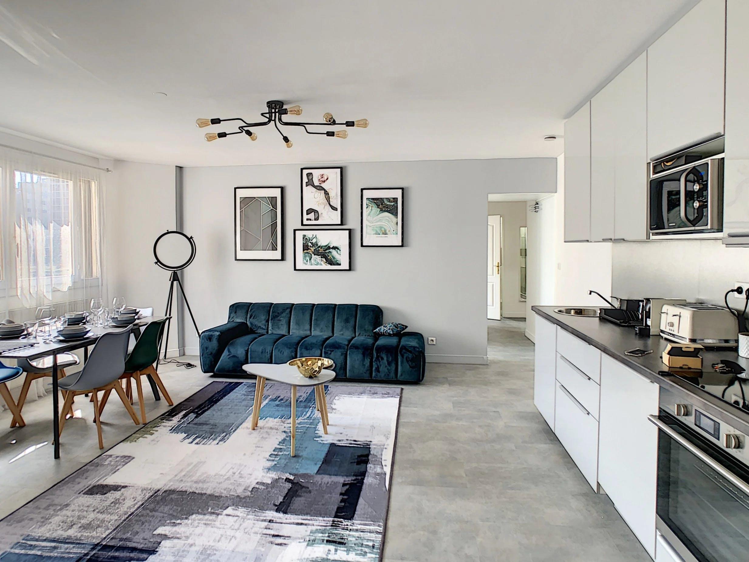 Appartement vue séjour et cuisine