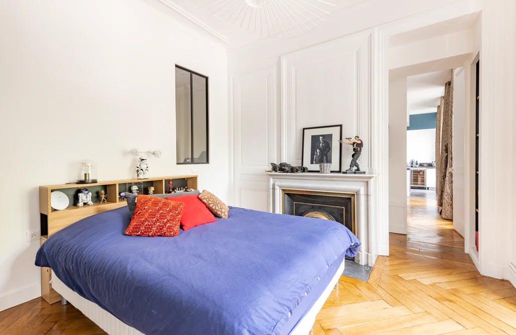 Chambre à coucher rénovée - appartement 120 m² à Lyon