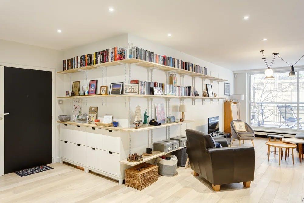 Rénovation appartement Paris 16 - rangements et étagères