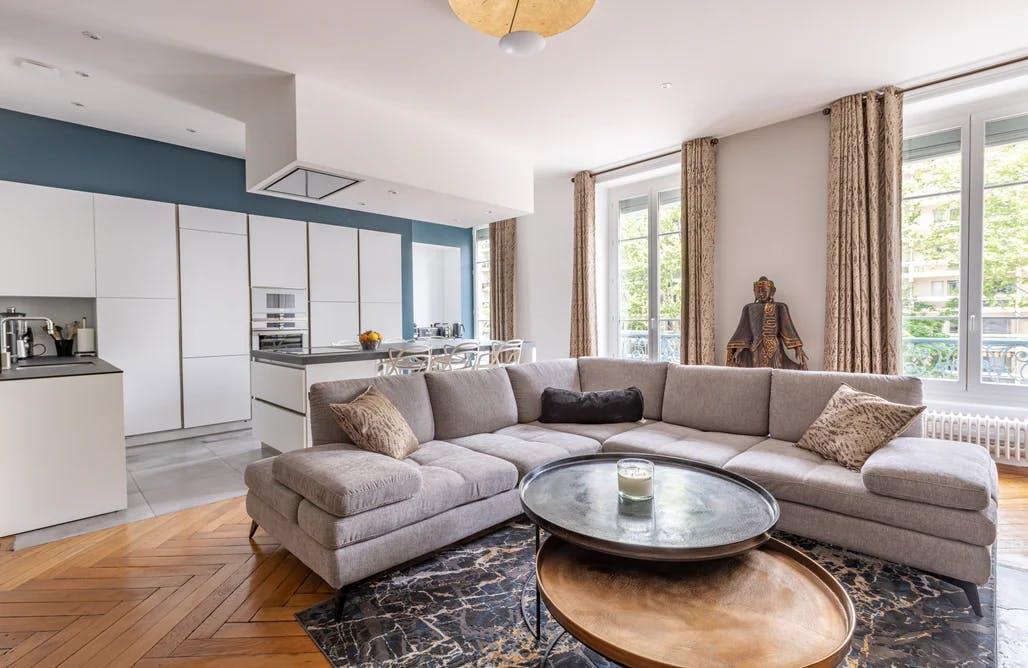 Rénovation salon appartement 120 m² à Lyon