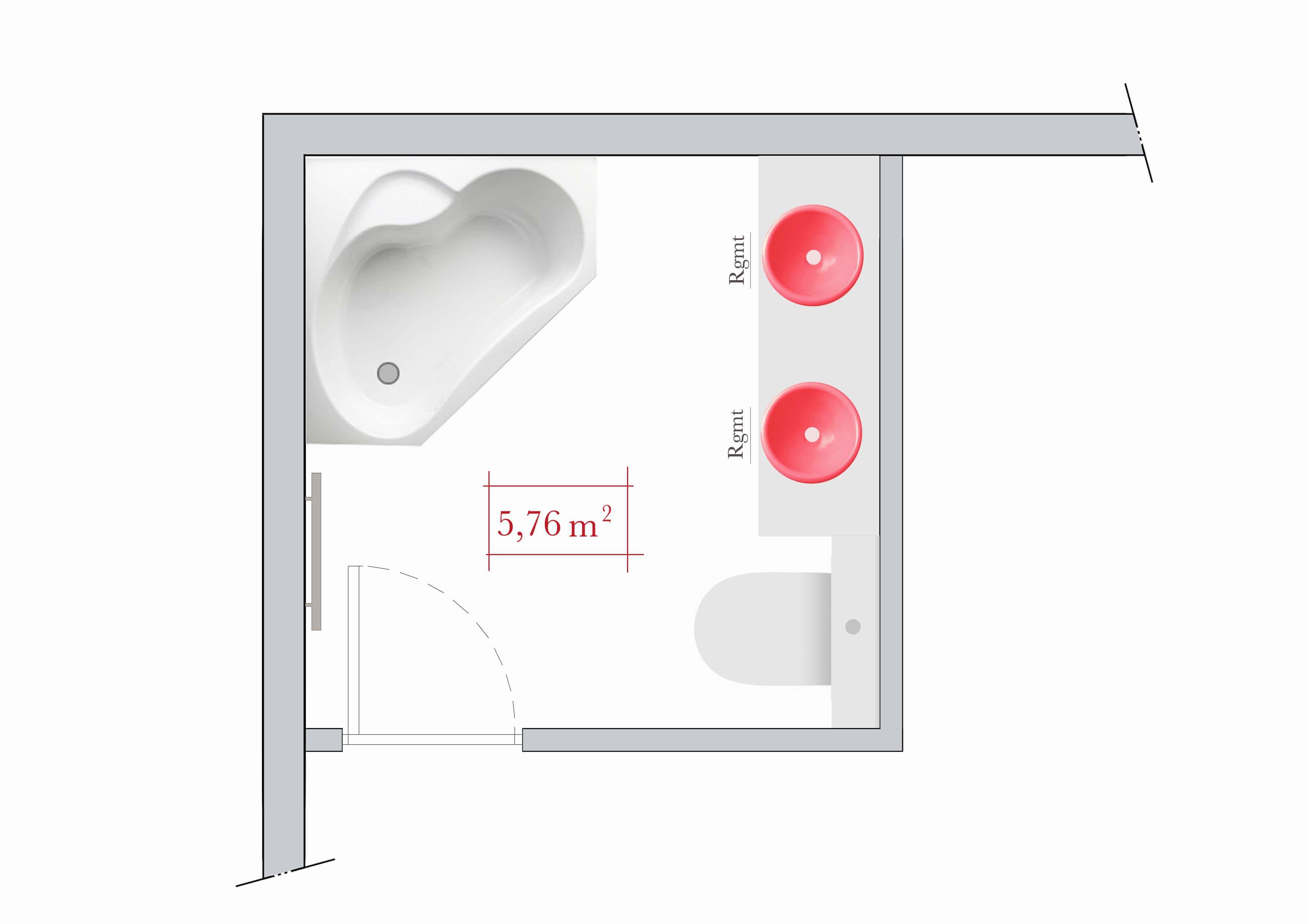 Plan agencement salle de bain 5m2