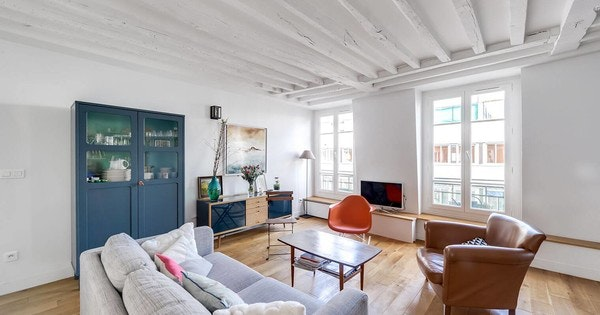 Rénovation d'un appartement à poutres apparentes