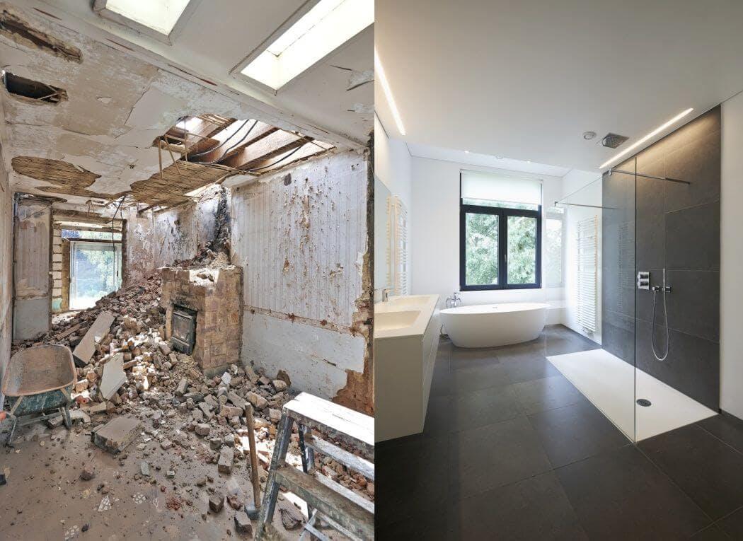 Renovation d'une salle de bain dans une ancienne maison