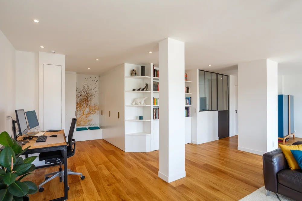 Vue grand angle de l'appartement de 129 m² à Sèvres