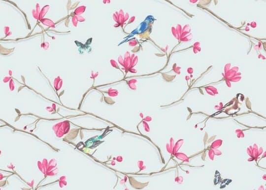 Papier peint thème floral