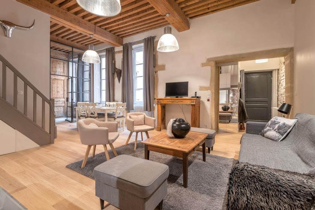 Rénovation d'un appartement Canut dans le centre de Lyon