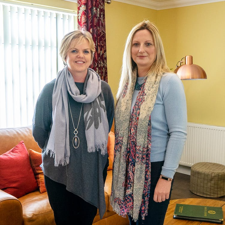 Julie and Emma from Solid Luxury Lodges and Cottages