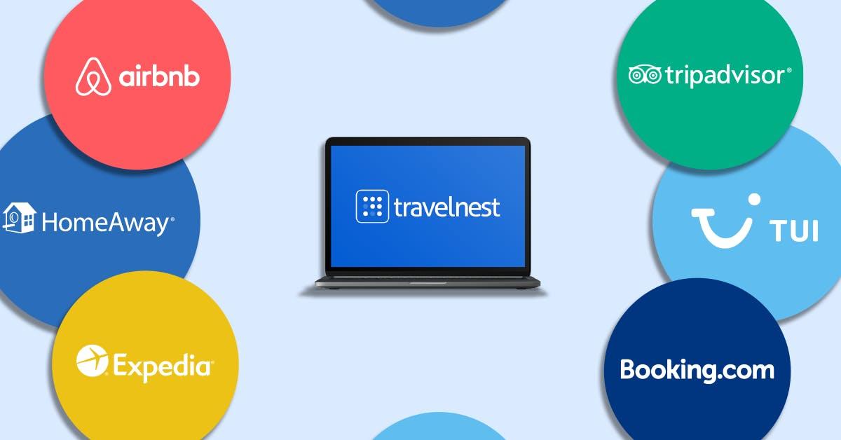 Airbnb, Booking.com, Expedia, HomeAway, TripAdvisor, TUI.