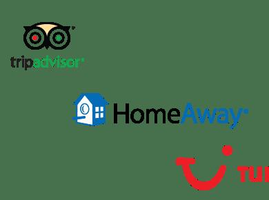 HomeAway, TripAdvisor and TUI logos