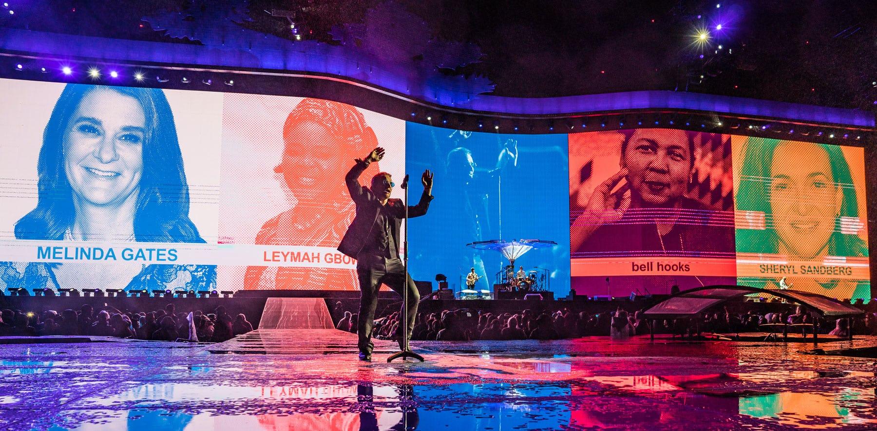 U2 Joshua Tree stage