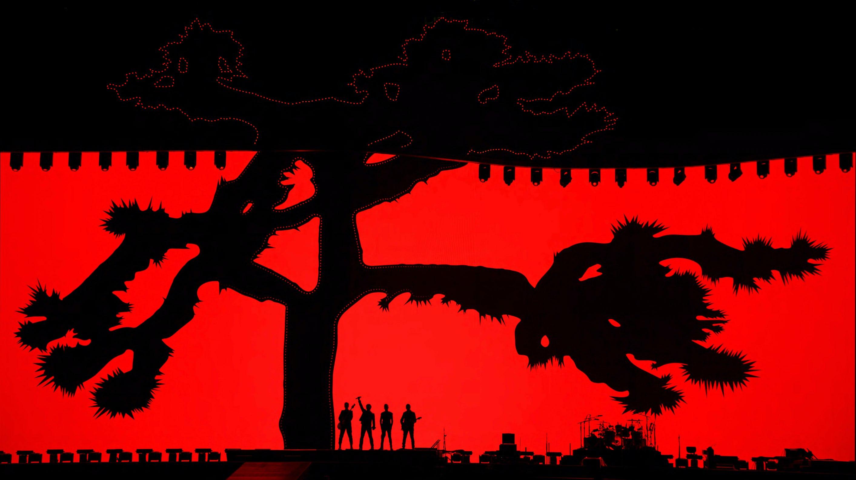 U2 Joshua Tree red silhouette