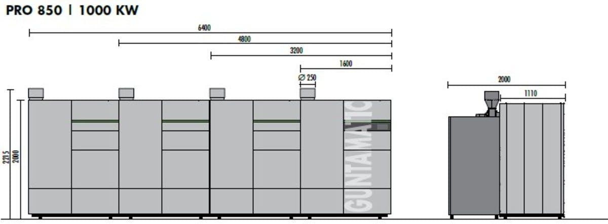 PRO biomass boiler size 850kW 1000kW iMW