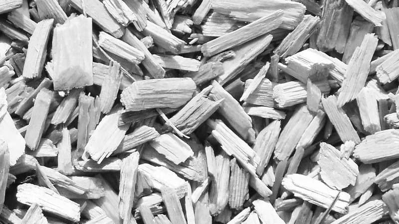 Wood Chips, Black & White