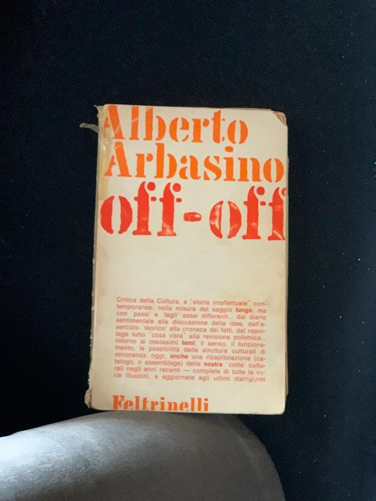 Alberto Arbasino, Off-Off, Feltrinelli, 1971