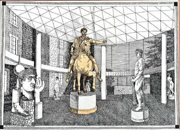 Carlo Aymonino, Sistemazione Marc'Aurelio, disegno, 2 febbraio 2006