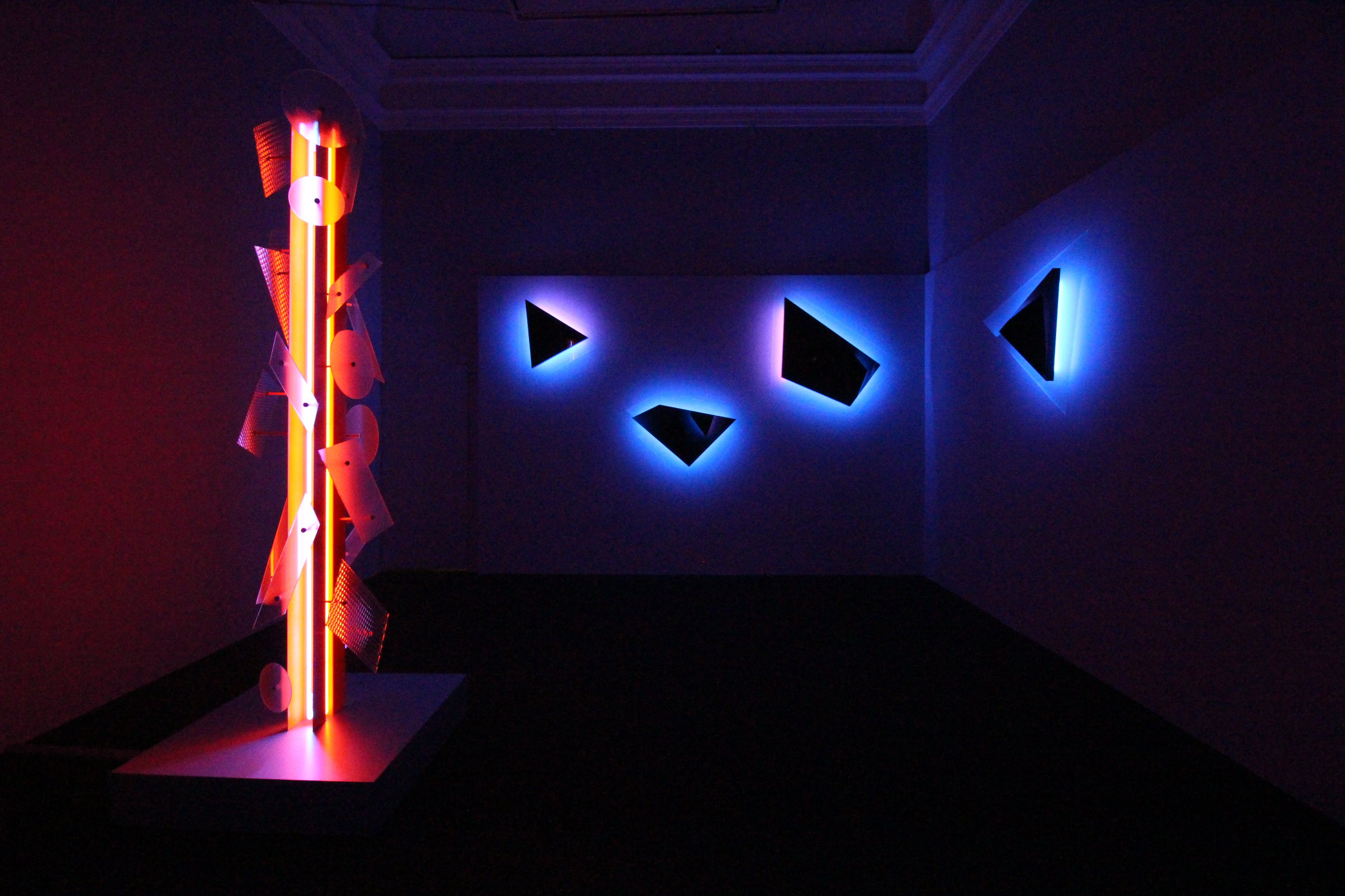Nanda Vigo, Palazzo Reale, Milano, 2019, Neverended light e Galactica sky. Courtesy Archivio Nanda Vigo
