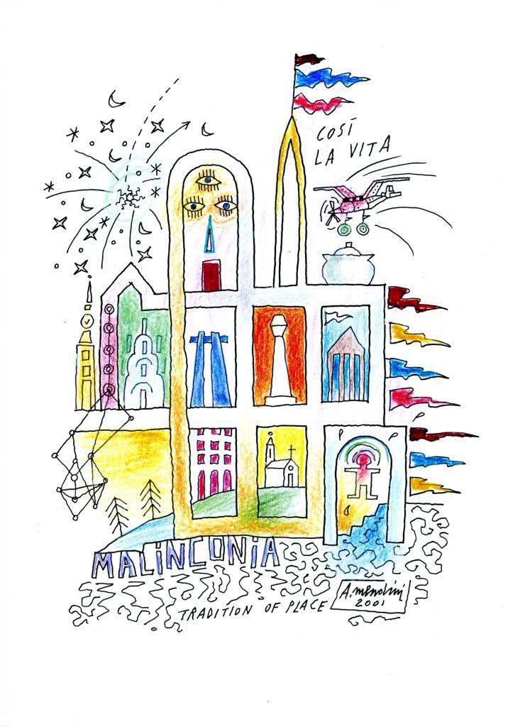 Alessandro Mendini, drawing, 2001, Fondo Alessandro Mendini, Triennale Milano