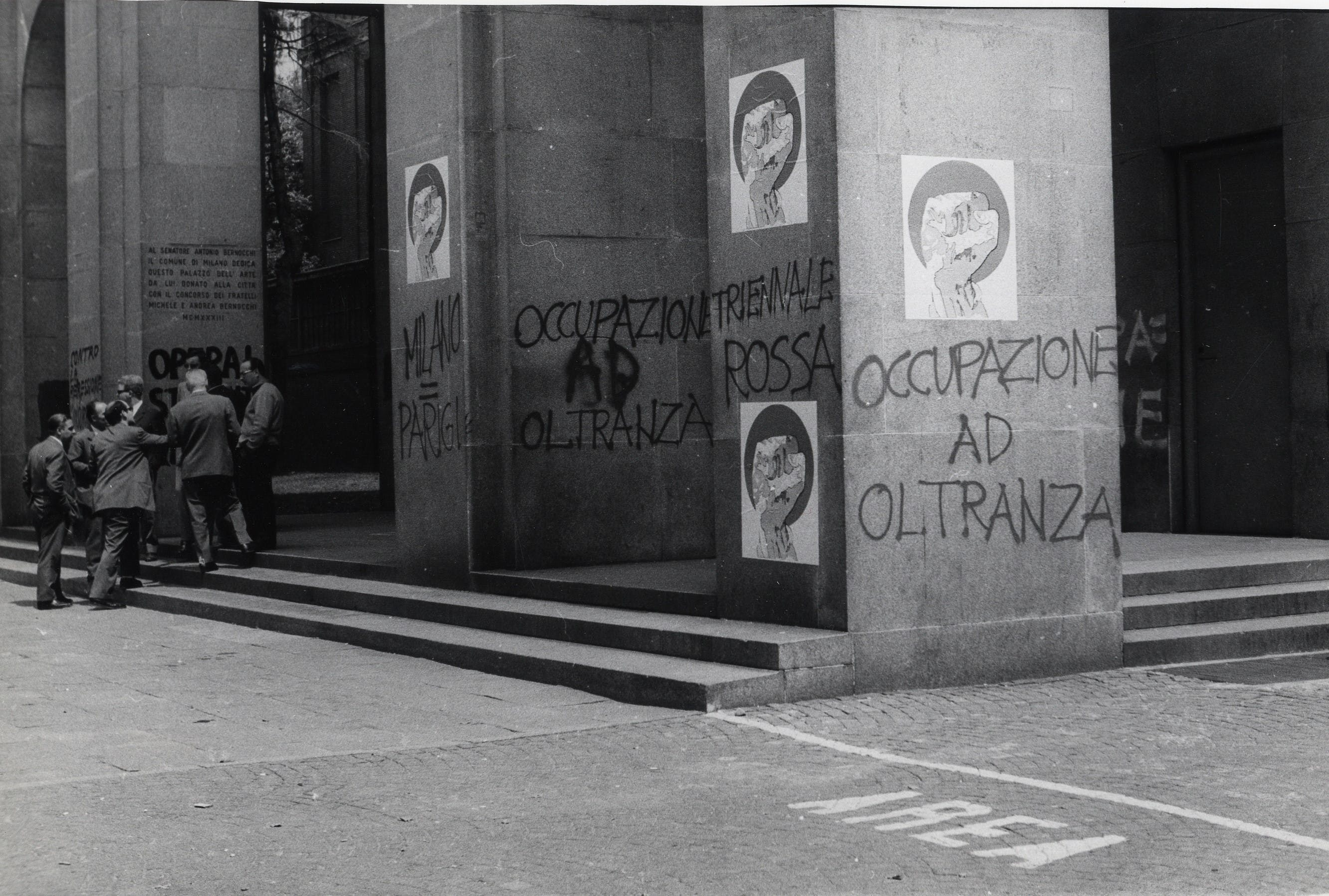 1968: Protests at the opening of the 14th Triennale