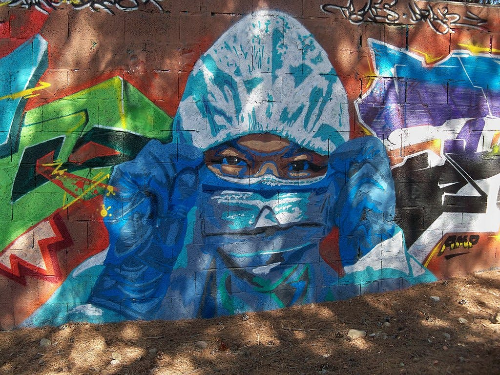 Nurse graffiti COVID-19 in Málaga, Spain © Daniel Capilla