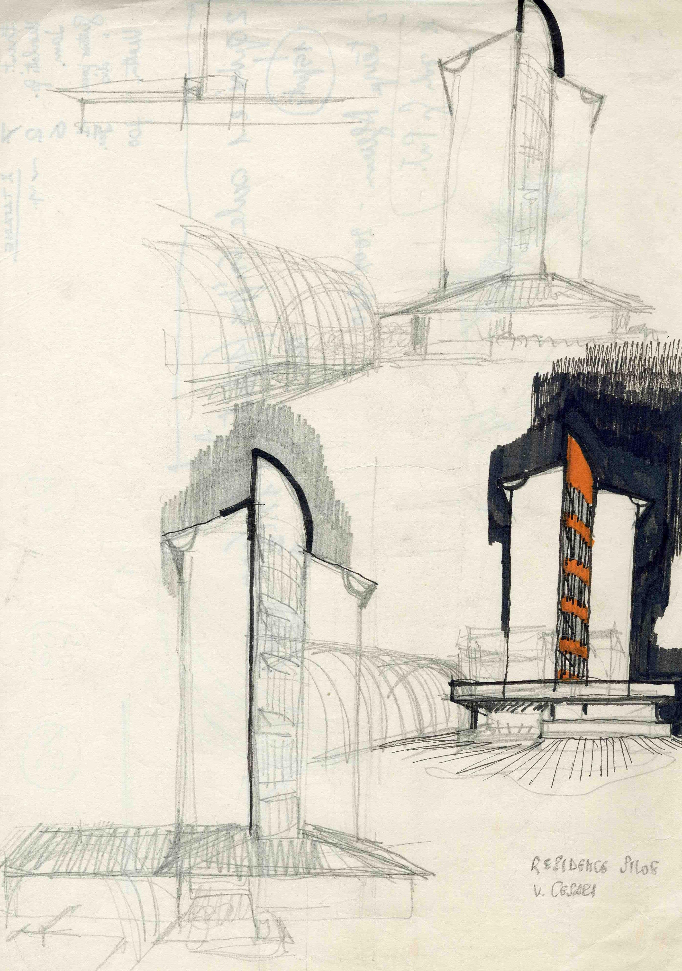 Residence Siloe, Milano, 1970-73 © Archivio Studio Magistretti – Fondazione Vico Magistretti