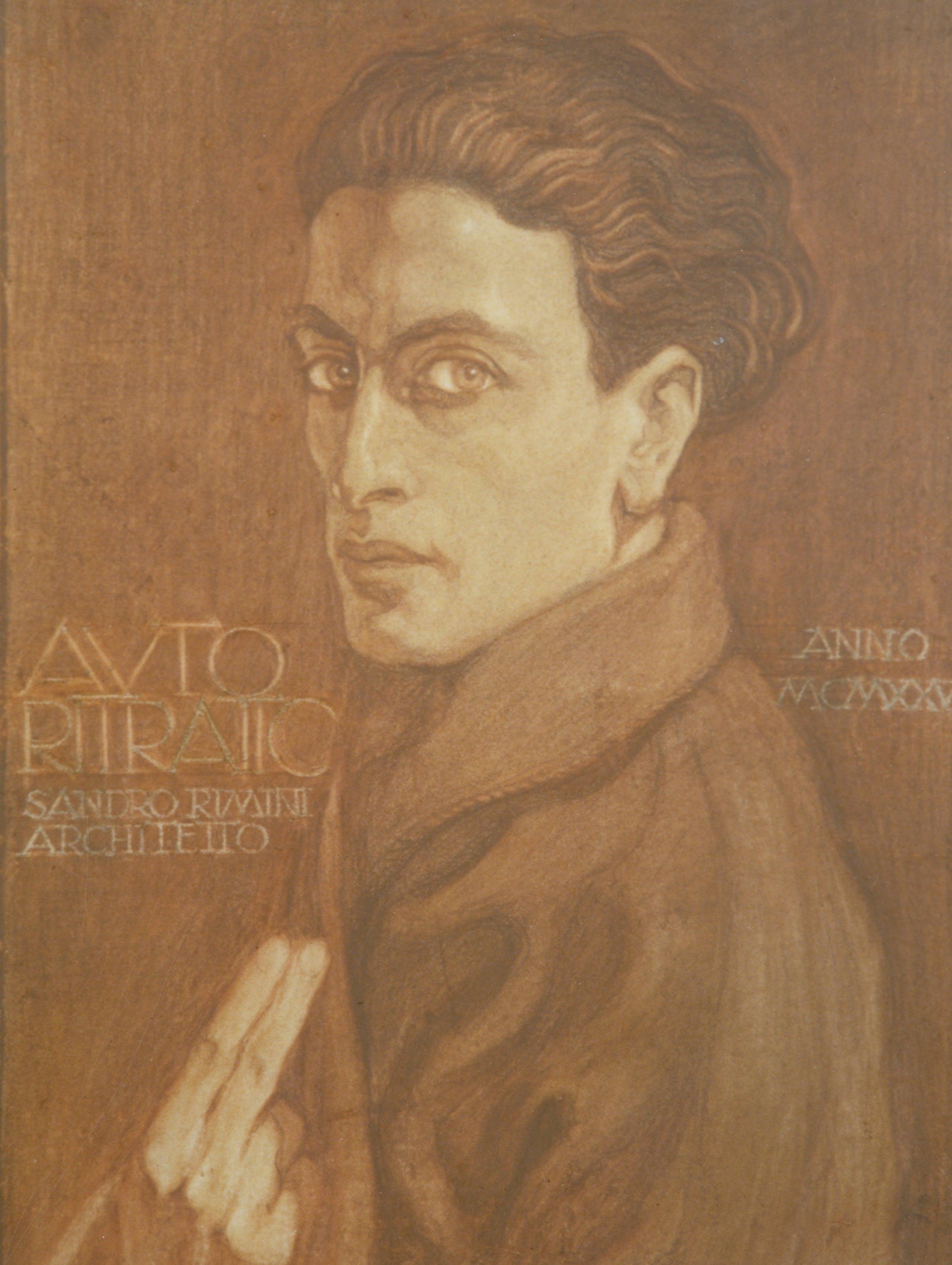 Alessandro Rimini, Autoritratto, 1925