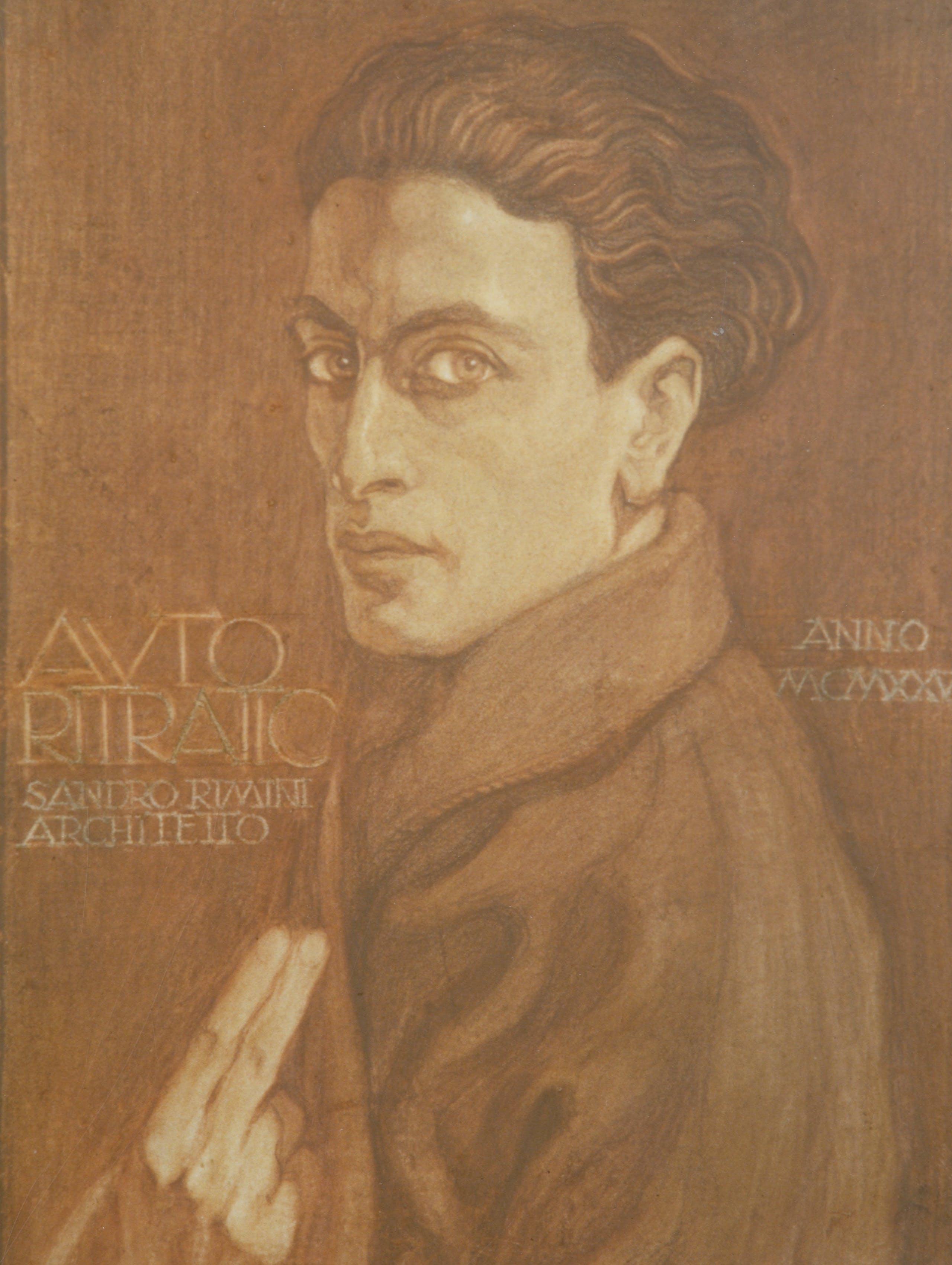 Alessandro Rimini, self portrait, 1925