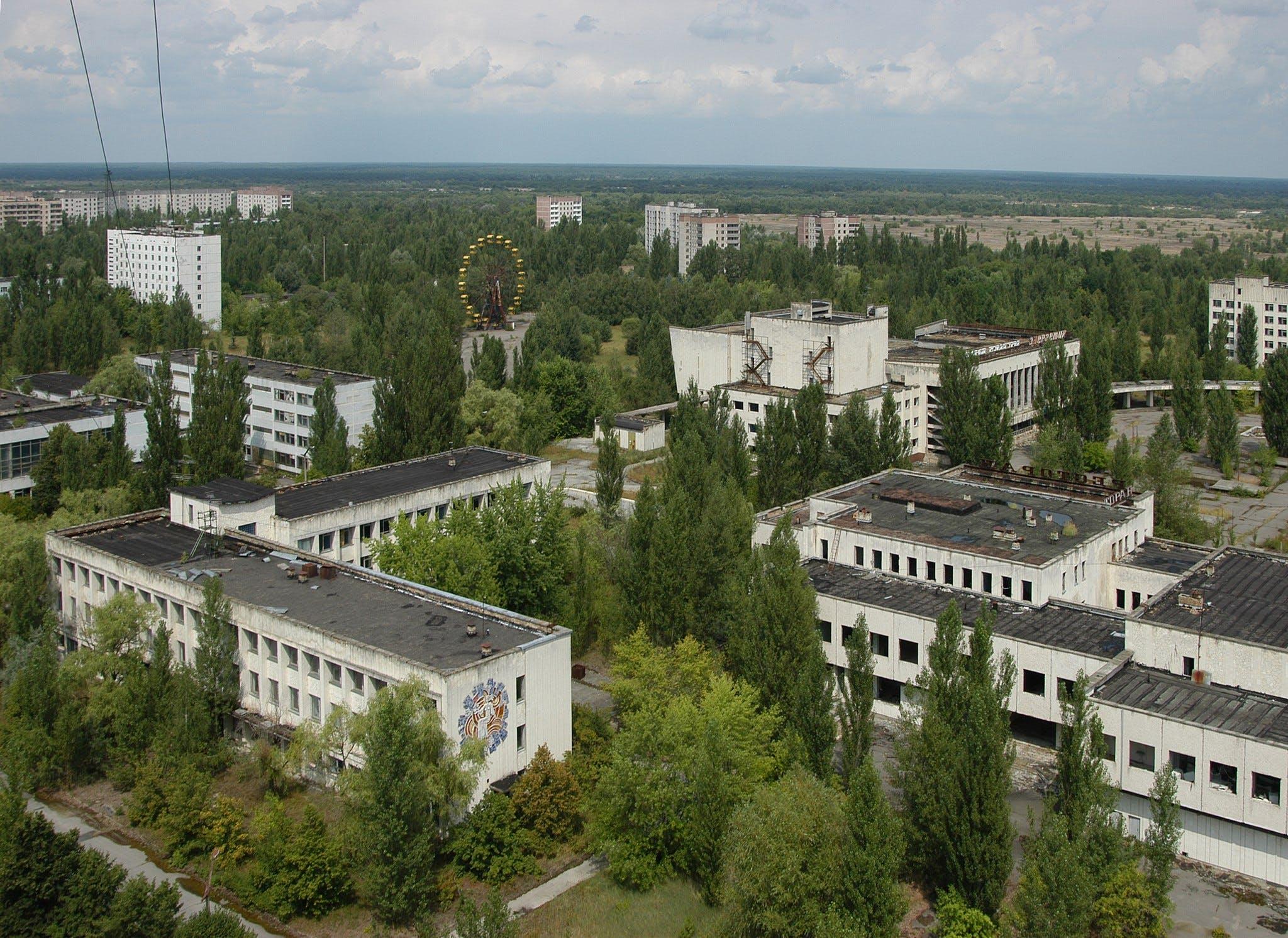 Panorama della città fantasma di Pripyat © IAEA