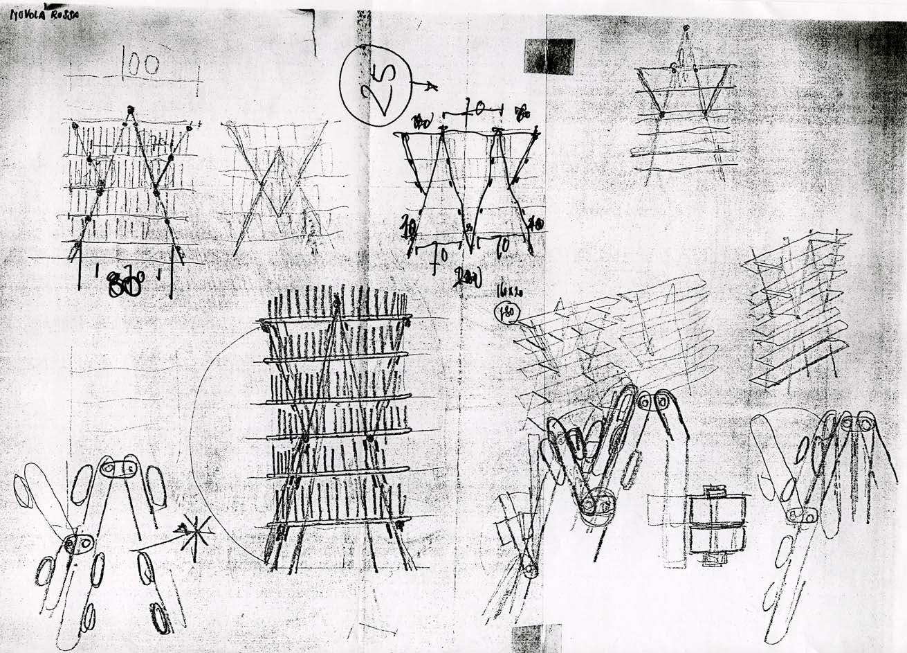 Disegno per Nuvola Rossa © Archivio Studio Magistretti - Fondazione Vico Magistretti