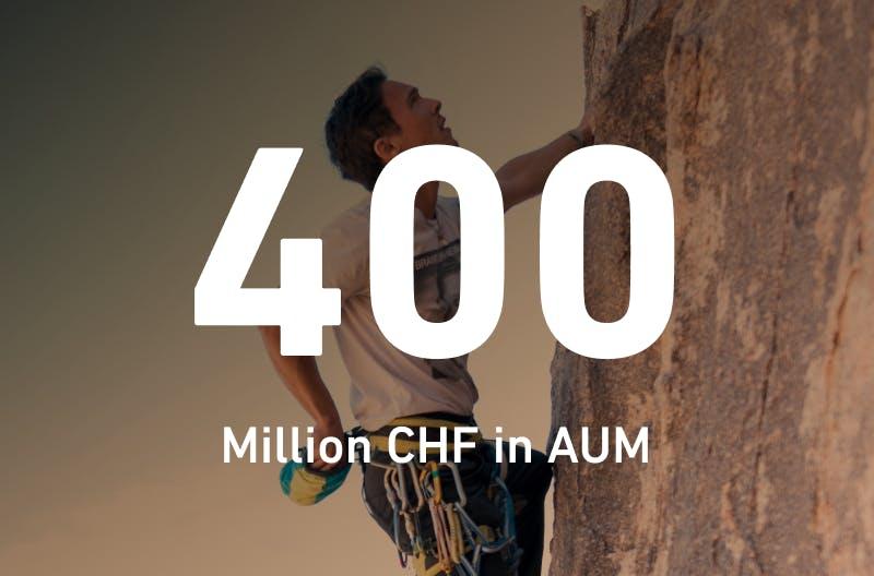 400m CHF in AUM
