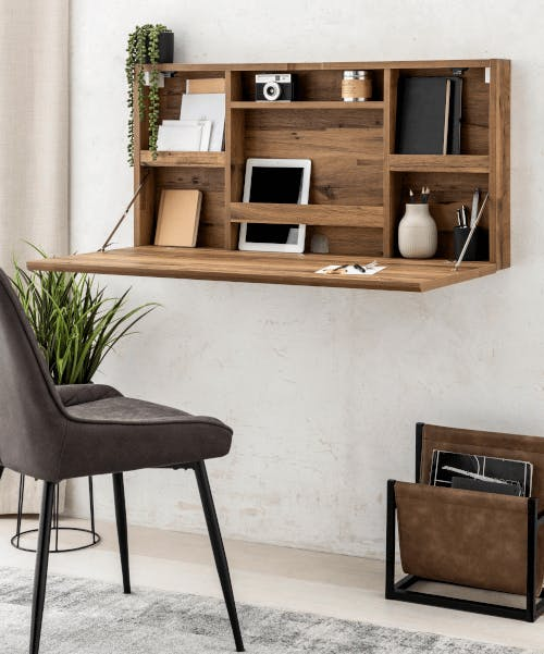 A wall desk from Next.