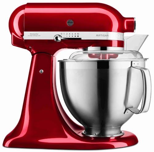 KitchenAid red candy mixer