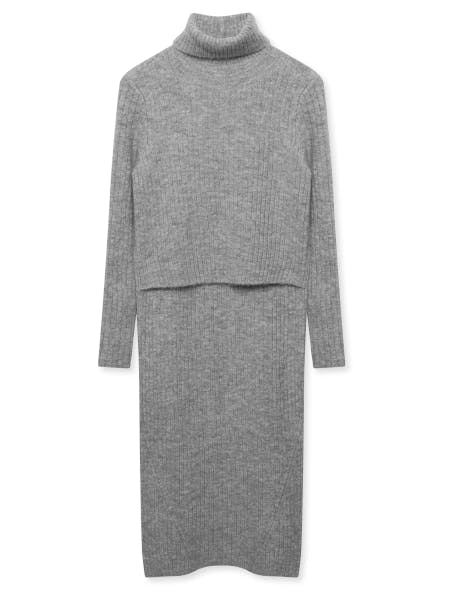 A knitted dress