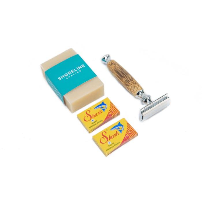 A shaving kit.