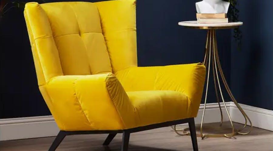 A yellow armchair