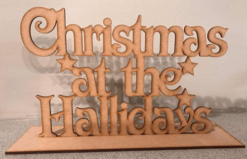 wooden Christmas plaque