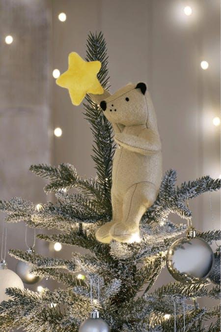 polar bear and star Christmas tree topper