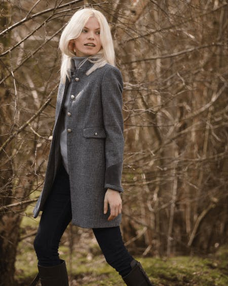 A tailored wool blend jacket
