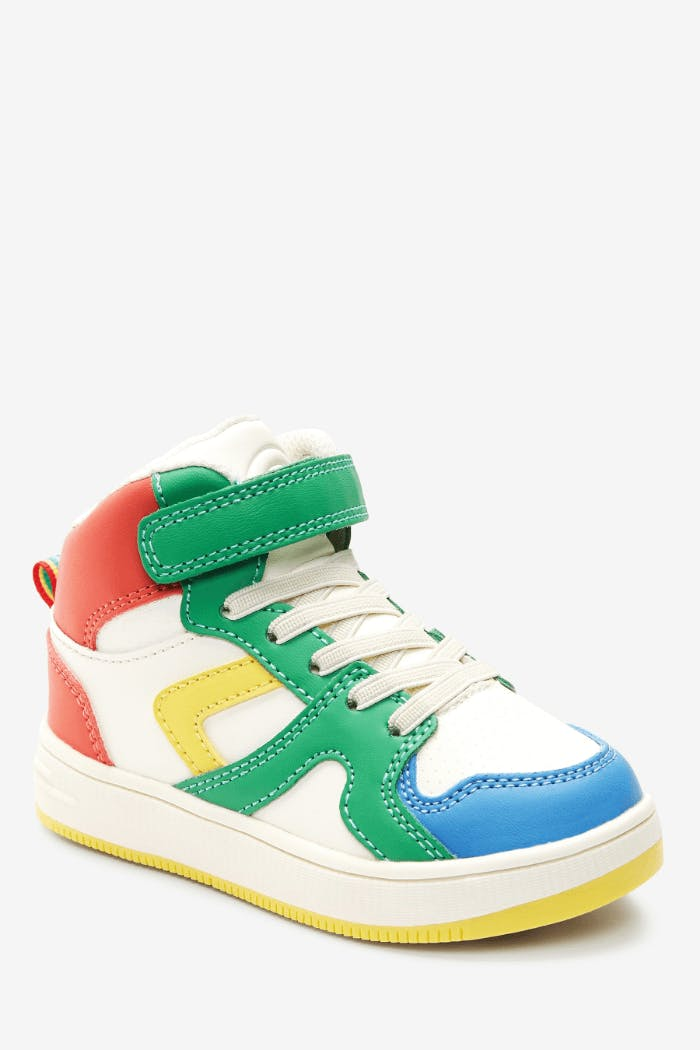 Colourful sneakers.