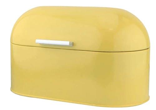 a yellow bread bin