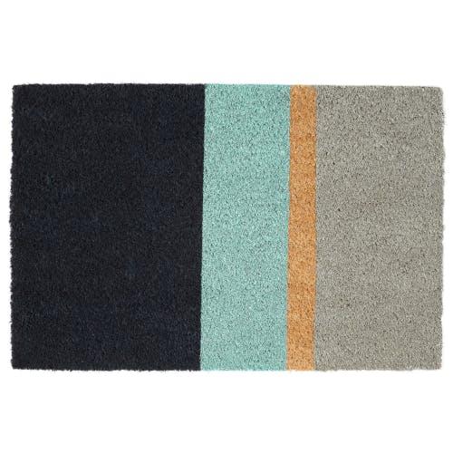 A four coloured rug.
