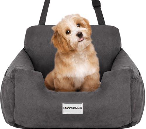 A dog car seat