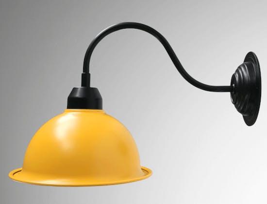 a yellow wall lamp