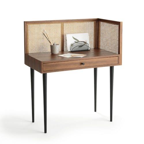A 1950s-style rattan desk